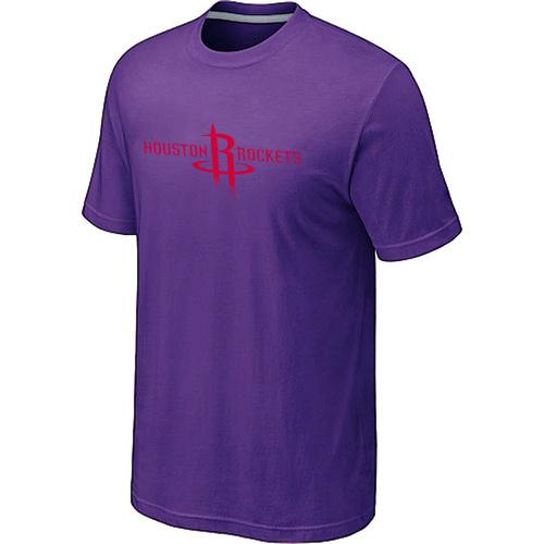 Houston Rockets adidas Primary Logo T-Shirt -Purple