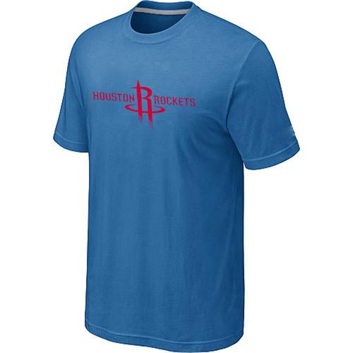 Houston Rockets adidas Primary Logo T-Shirt -light Blue