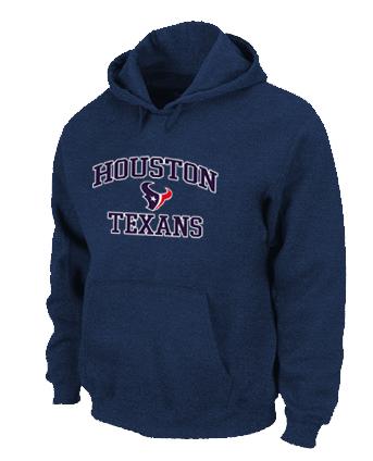 Houston Texans Heart & Soul Pullover Hoodie D.Blue