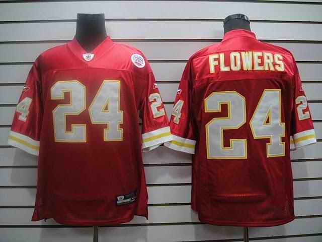 Kansas City Chiefs 24 Flowers red Jerseys