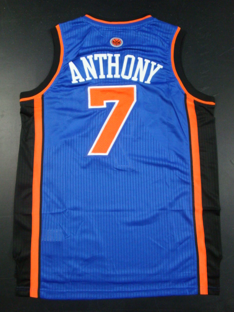 Knicks 7 Anthony Blue AAA Jerseys