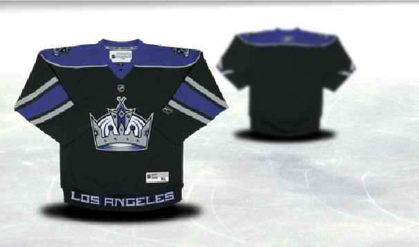 Los Angeles Kings Youth Customized Black Jersey