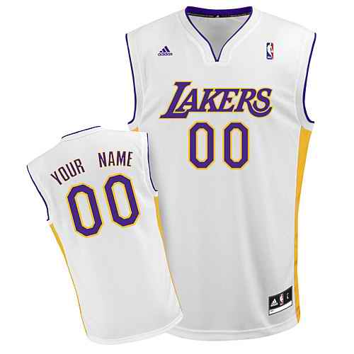 Los Angeles Lakers Youth Custom white Jersey
