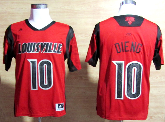 Louisville Cardinals 10 Dieng Red Big East Jerseys