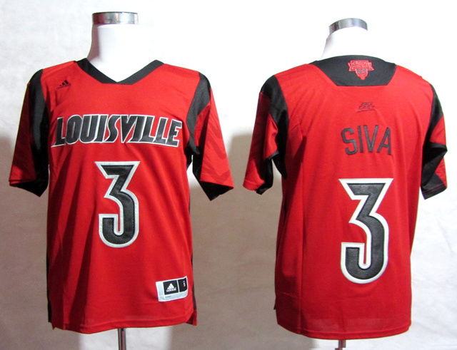 Louisville Cardinals 3 Siva Red Big East Jerseys