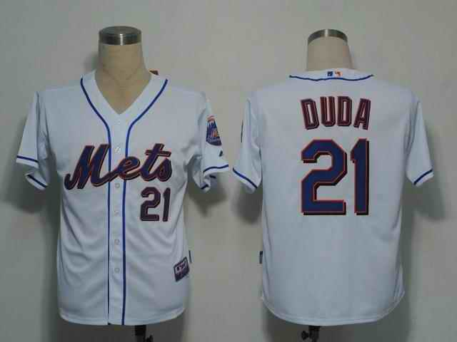 Mets 21 Duda white cool base Jerseys