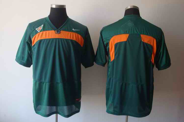 Miami Hurricanes blank green jerseys