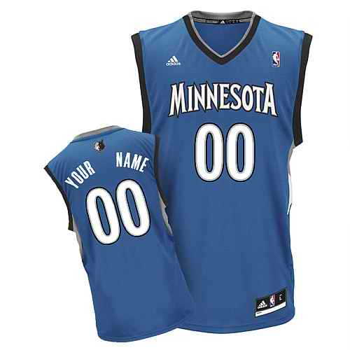 Minnesota Timberwolves Youth Custom blue Jersey