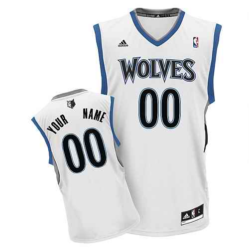 Minnesota Timberwolves Youth Custom white V-neck Jersey