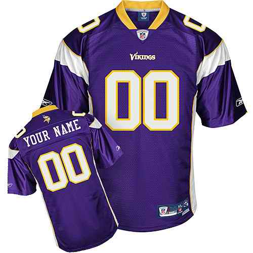 Minnesota Vikings Youth Customized purple Jersey