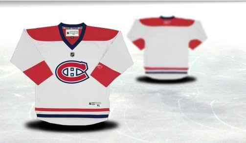 Montreal Canadiens Youth Customized White Jersey