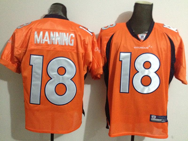 Denver Broncos 18 MANNING orange Jerseys