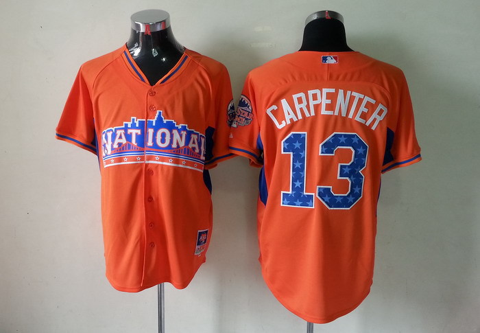 National League 13 Carpenter orange 2013 All Star Jerseys