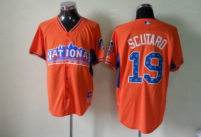National League 19 Scutaro orange 2013 All Star Jerseys