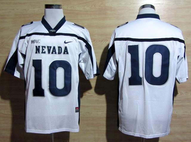 Nevada Wolf Pack 10 Kaepernick White Jerseys