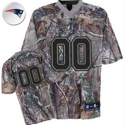 New England Patriots Men Customized camo Jersey
