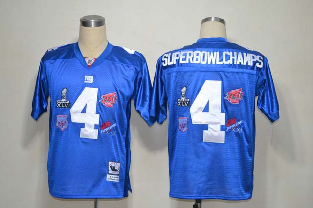New York Giants 4 SuperBowl Champs Blue Jerseys
