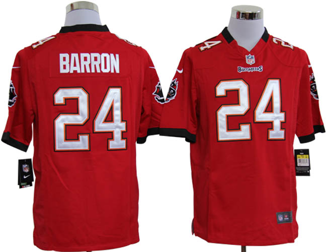 Nike Buccaneers 24 BARRON red game Jerseys