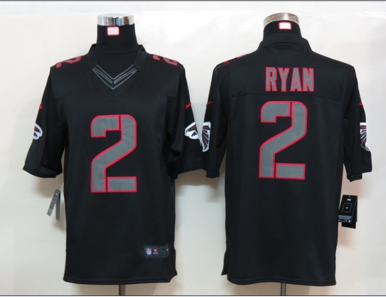 Nike Falcons 2 Ryan Black Impact Limited Jerseys