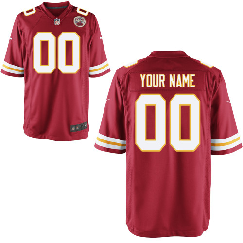 Nike Kansas City Chiefs Youth Customized Game Team Color Jersey
