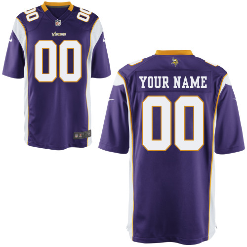 Nike Minnesota Vikings Youth Customized Game Team Color Jersey