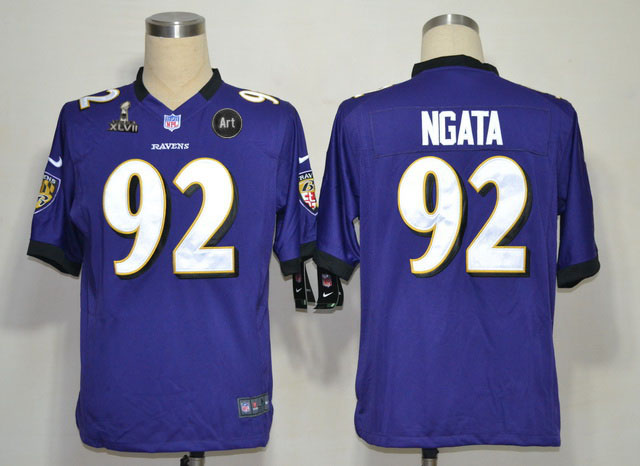 Nike Ravens 92 Ngata purple Game 2013 Super Bowl XLVII and Art Jerseys