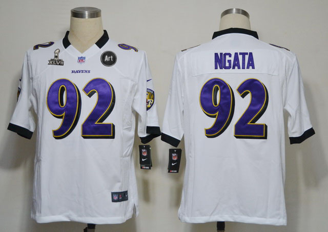 Nike Ravens 92 Ngata white Game 2013 Super Bowl XLVII and Art Jerseys
