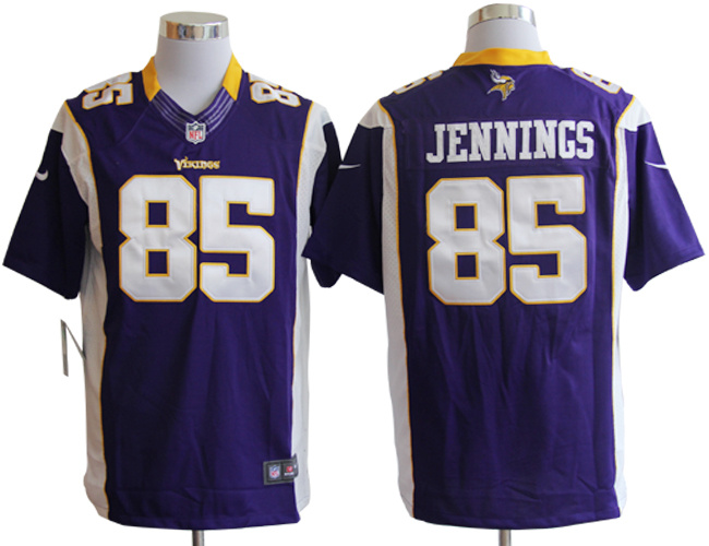 Nike Vikings 85 Jennings Purple Limited Jerseys