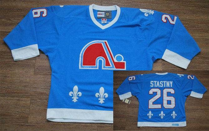 Nordiques 26 Stastny Light Blue Jerseys
