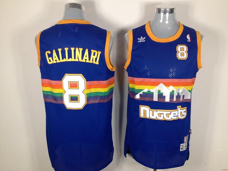 Nuggets 8 GALLINARI Revolution 30 Swingman Blue Jerseys