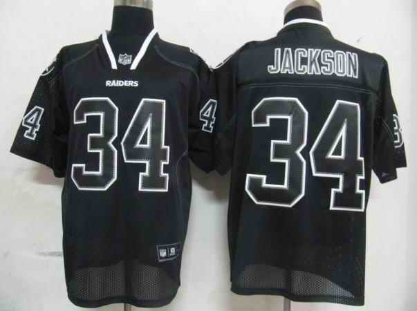 Oakland Raiders Men Customized black field shadow Jersey