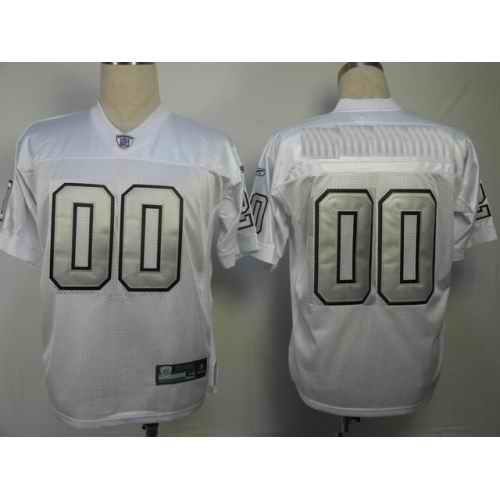 Oakland Raiders Men Customized silver number Jersey
