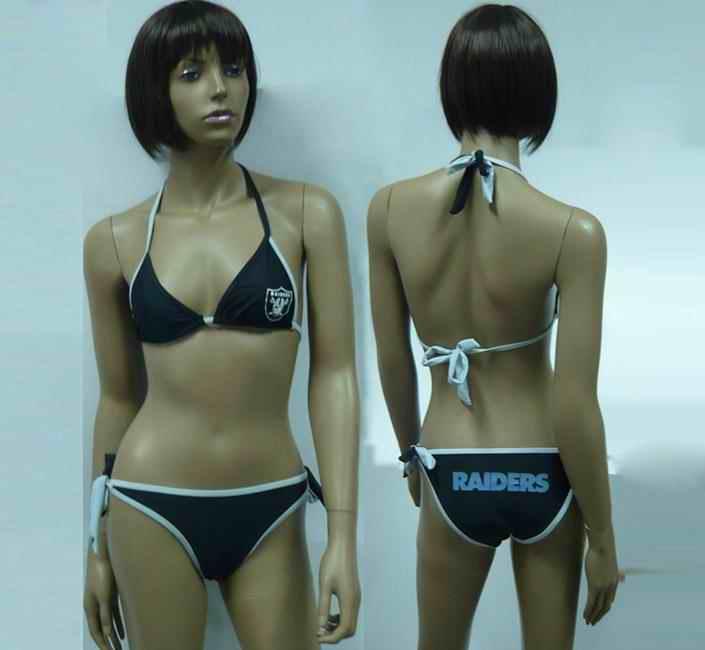 Oakland Raiders women Halter Bikini