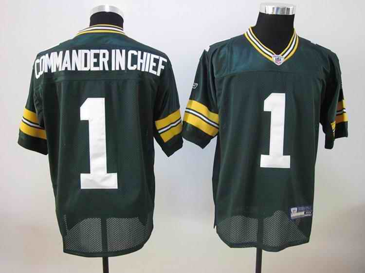 Packers 1 Commander in chief green Jerseys