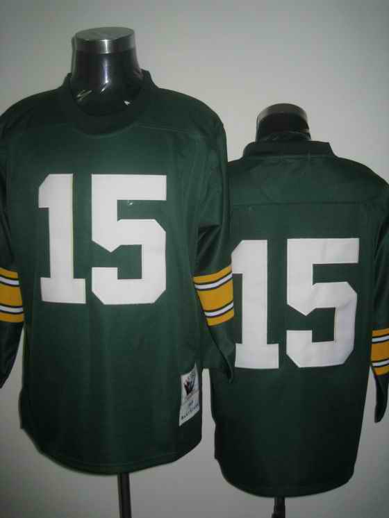 Packers 15 Bart Starr green Throwback Jerseys