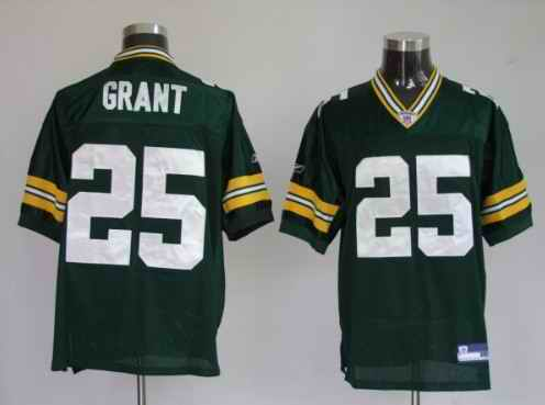 Packers 25 Ryan Grant Premier Green Jerseys