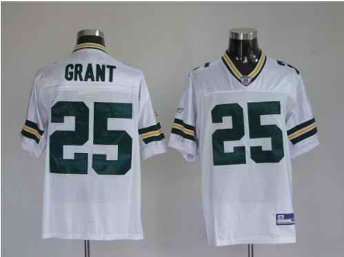 Packers 25 Ryan Grant Premier White Jerseys