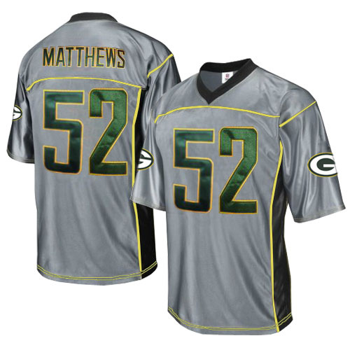 Packers 52 Matthews Grey Jersey