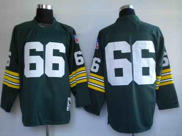 Packers 66 Ray Nitschke green Throwback Jerseys