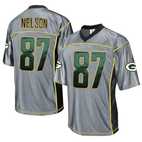 Packers 87 Nelson Grey Jersey