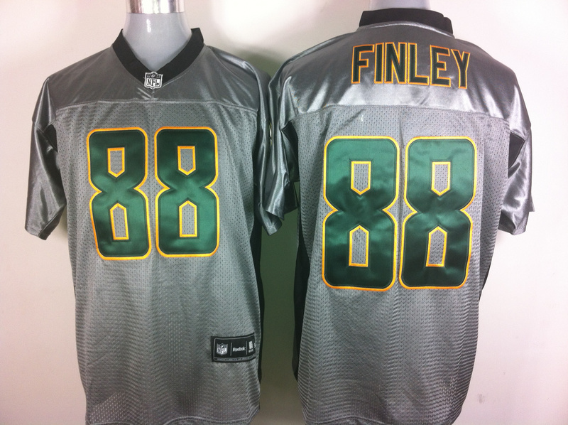 Packers 88 Finley Grey Jerseys