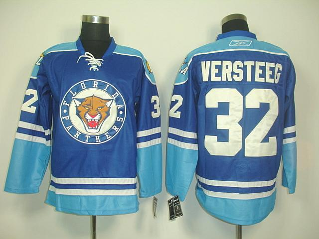 Panthers 32 Versteeg Blue Jerseys