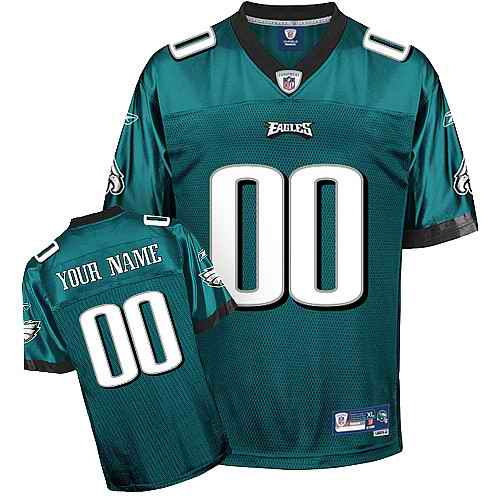 Philadelphia Eagles Men Customized green Jersey