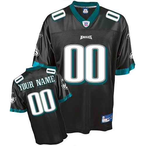Philadelphia Eagles Youth Customized black Jersey