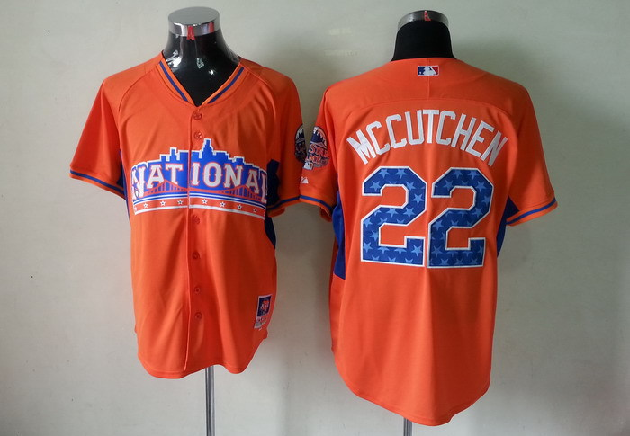 Pirates 22 Mccutchen orange 2013 All Star Jerseys