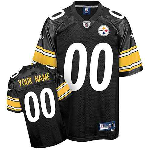 Pittsburgh Steelers Men Customized black white number Jersey