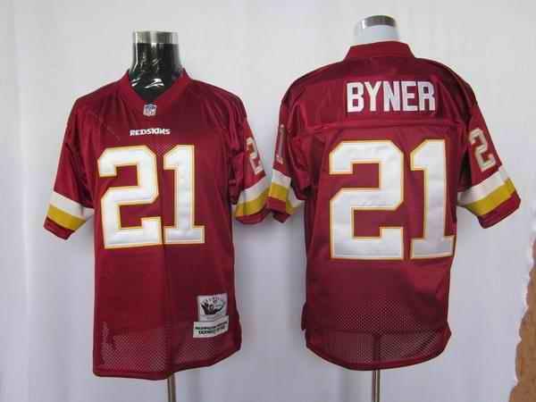 Redskins 21 Byner red m&n Jerseys