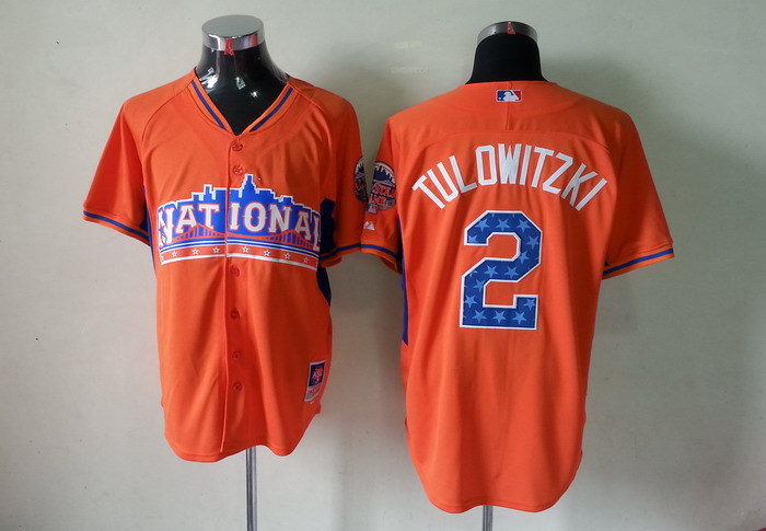 Rockies 2 Tulowitzki orange 2013 All Star Jerseys