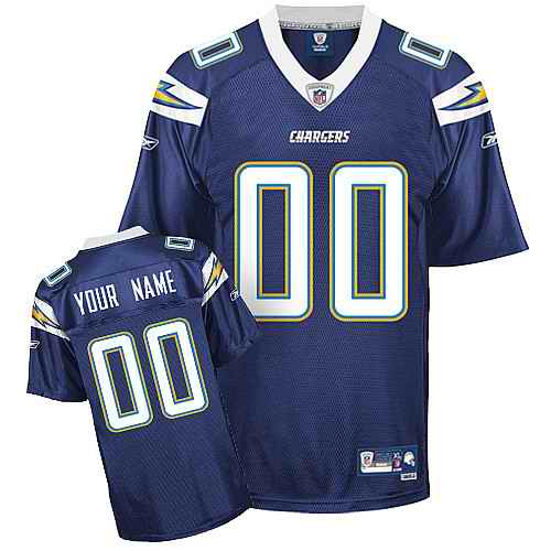 San Diego Chargers Men Customized dark blue Jersey