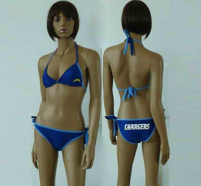 San Diego Chargers women Halter Bikini